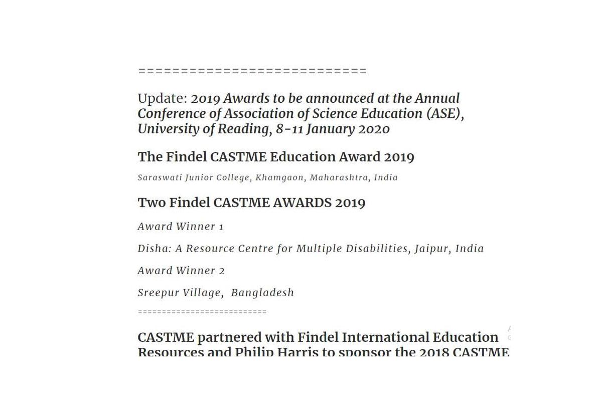 Findel Castme Award